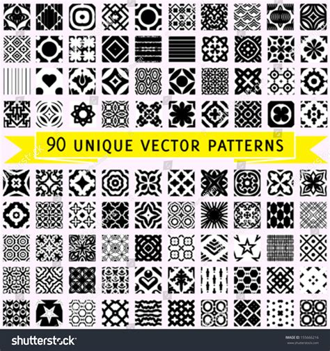 universal pattern en français set 90 universal vector seamless patterns stock vector
