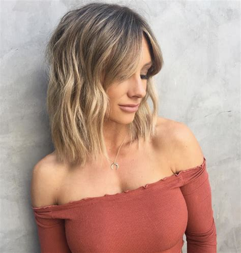 textured lob caramel ombre cena jordan hair 50 short hairstyles to try now style skinner