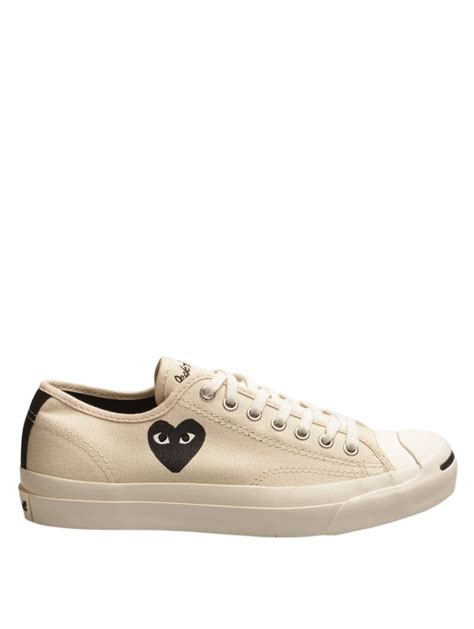 Converse 1970s Cdg Play Low Black White comme des gar 231 ons play purcell converse white with black in white for lyst