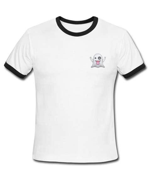 T Shirt Ringer Ghost Maron ghost emoji ringer t shirt