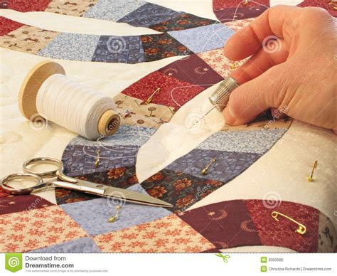 Hand Quilting Royalty Free Stock Image   Image: 3350086