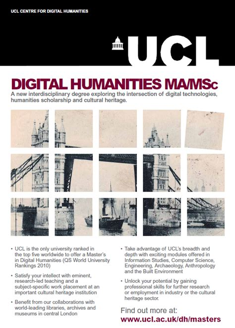 poster design jobs london melissa terras blog new ma msc in digital humanities