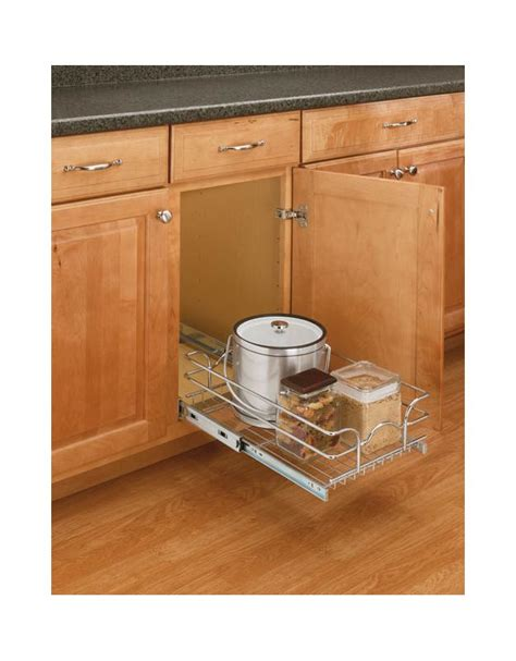 22 inch wide base cabinet rev a shelf 5wb1 1222 cr chrome 5wb 12 inch wide by
