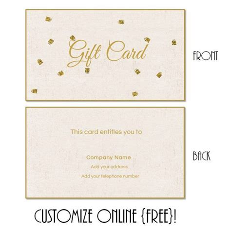 present card template 25 best ideas about free gift certificate template on