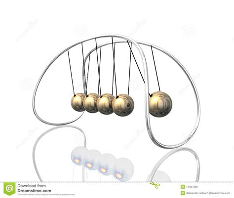swinging pendulum balls newton pendulum 3d royalty free stock photo image 11497395