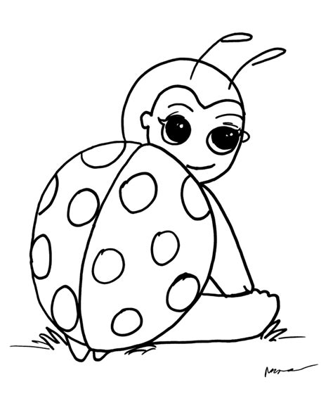 cute ladybug coloring pages az coloring pages