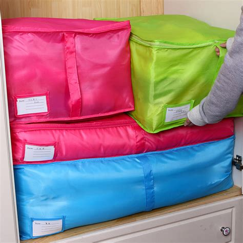how to store pillows large clothes storage bags polyester quilt bedding duvet