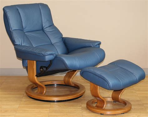 Stressless Blues Recliner by Stressless Kensington Large Mayfair Oxford Blue Leather Recliner Chair And Ottoman By