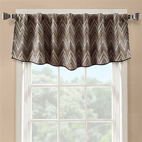 flambe modern ascot window valance bed bath beyond