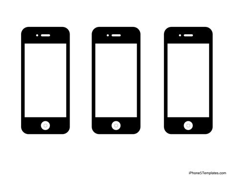 iphone screen template best photos of printable iphone template free printable