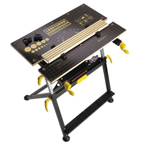 professional work bench craftsman professional height adjustable cling table