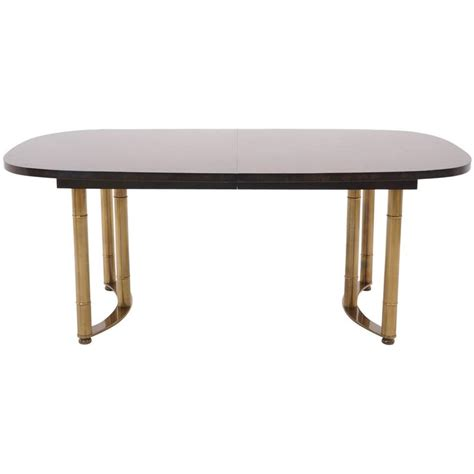 harvey probber expandable burl dining table with cast