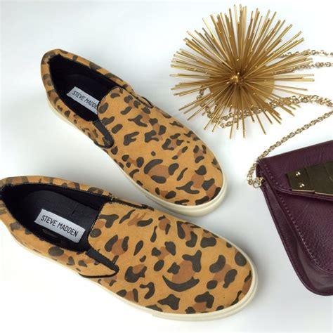 tennis shoe flats 44 steve madden shoes leopard print flats slip on