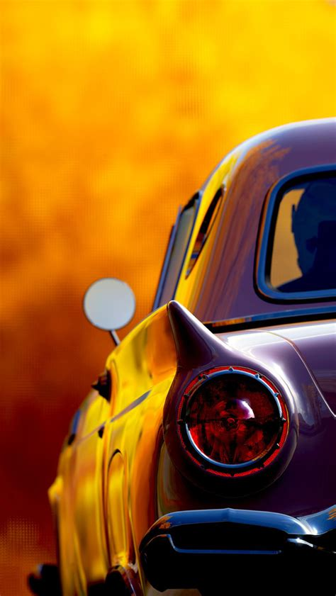 classic retro car tail lights iphone  wallpaper hd