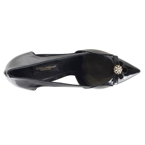 Dolce Gabbana Perspex Patent Dorsay by Dolce Gabbana Patent Leather With Detail