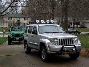 jeep liberty roof lights bull bar roof rack and lights installed jeepforum com