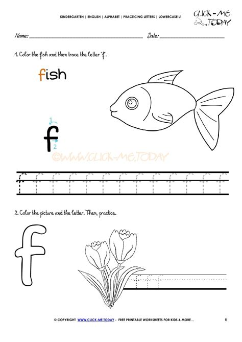 Letter Worksheet For Kindergarten f alphabet printable worksheets for kindergarten f best