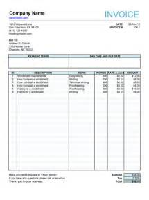 Freelance Writing Invoice Template Service Invoice For Article Writers Freelance Invoice