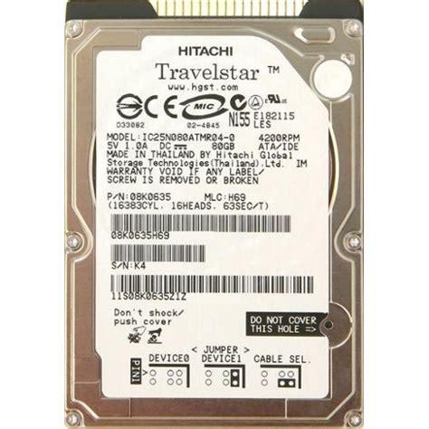 Kode N155 hitachi travelstar n155 disque dur 80 go pas cher