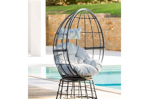 fauteuil oeuf jardin fauteuil oeuf pivotant hanoi gris hesp 233 ride