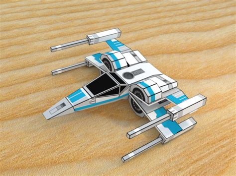 X Wing Papercraft - x wing t 70 papercraft render by theexkaiser on