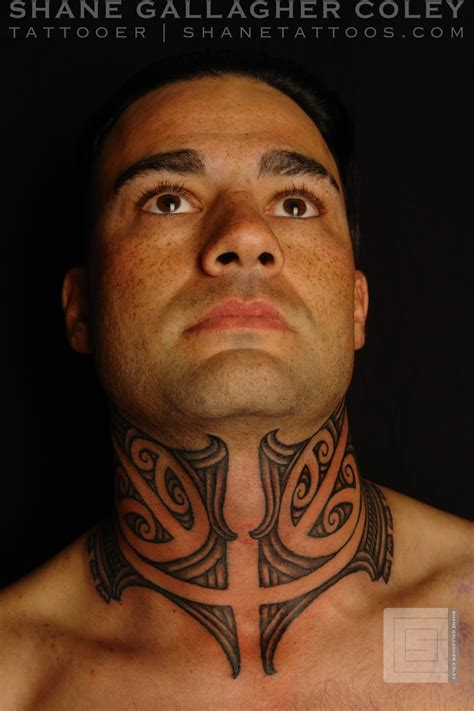 ta tattoo shane tattoos maori neck ta moko