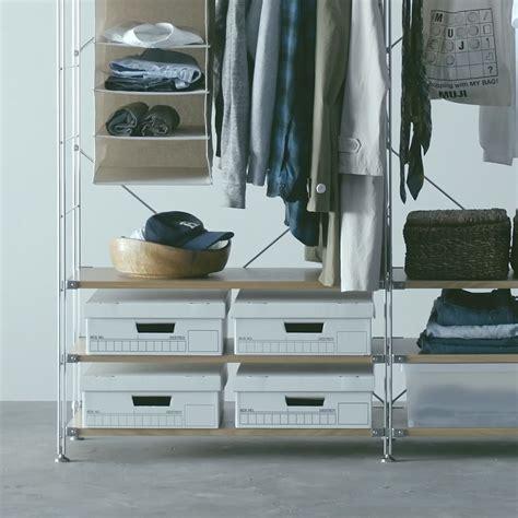 use as wardrobe storage unit shelf compact muji