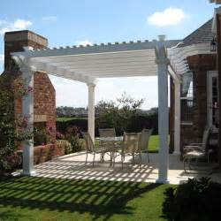 8 X 8 Pergola by Freestanding Vinyl Pergola With 8 Quot X 8 Quot Posts The Bradenton