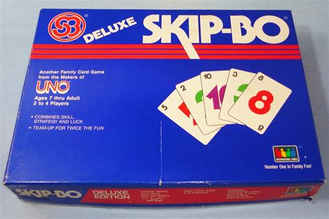 how many cards in a skipbo deck 1986 international deluxe edition skip bo family