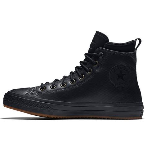 Converse Boot Black chuck ii waterproof mesh backed leather boot in black black black converse ca