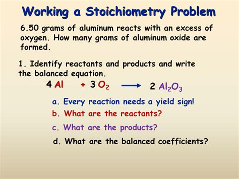 How Of Stoichiometry Gas Stoichiometry Presentation Chemistry