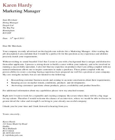 cover letter samples ms word