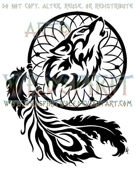 wolf feather tattoo designs tribal favourites by nianka on deviantart