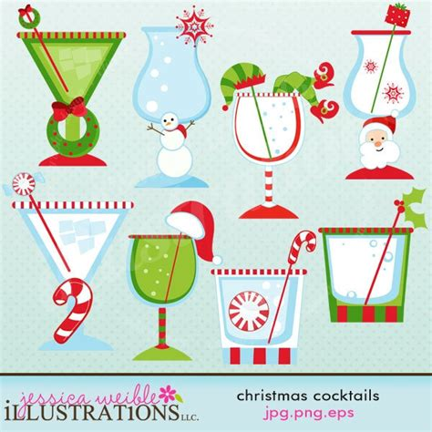 christmas cocktails clipart 1000 images about clipart christmas on pinterest