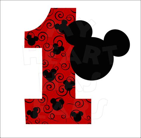 St Mickey Kid 1 mickey mouse 1 birthday clipart clipart suggest