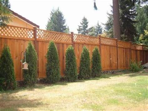 redwood fences images  pinterest wood fences