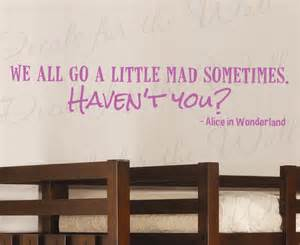 Disney Quote Wall Stickers Alice In Wonderland Disney Wall Decal Quote