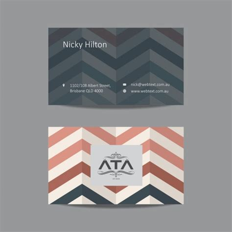 zig zag card template zigzag business card template vector free