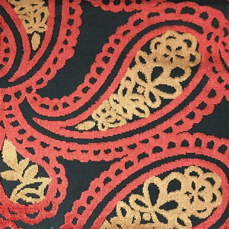 Bold Upholstery Fabric by Bold Paisley Cut Velvet Upholstery Fabric By