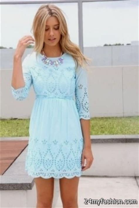 light blue lace dress with sleeves light blue summer dress with sleeves 2016 2017 b2b fashion
