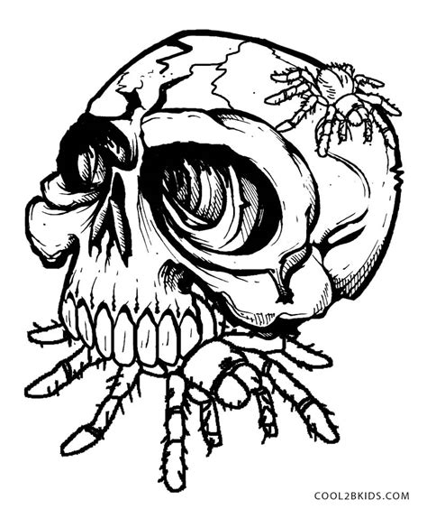 skull color free coloring pages of skulls