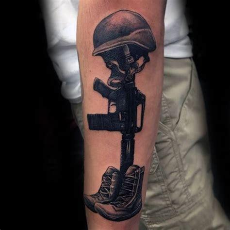 fallen soldier tattoo 50 fallen soldier designs for memorial ideas