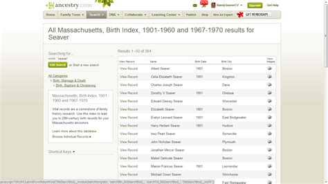 Massachusetts Birth Records Search Genea Musings 20th Century Massachusetts Vital Record Indexes New On Ancestry