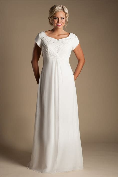 beaded empire waist wedding dress modest empire waist chiffon beaded destination