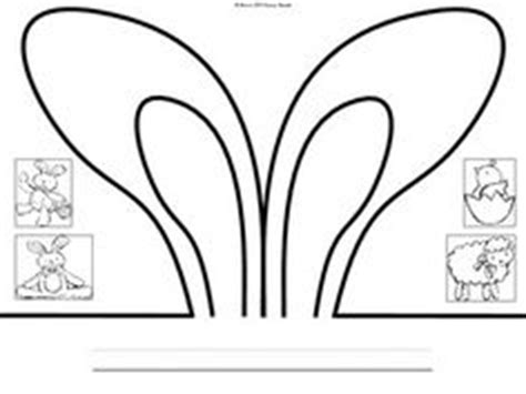 easter bunny hat template kindergarten printable hat templates http