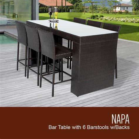 napa patio furniture tk classics napa bar table set with barstools 7 outdoor wicker patio furniture