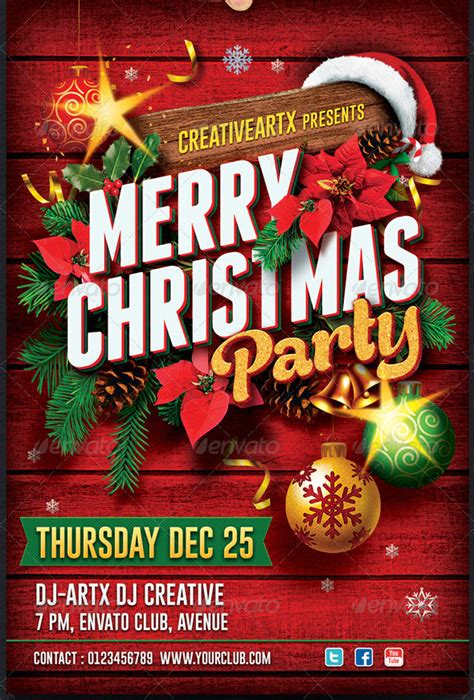 17 Beautiful Christmas Party Flyer Templates ? Design Freebies