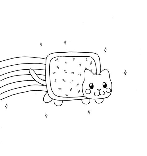 Nyan Cat Coloring Pages nyan cat free coloring pages