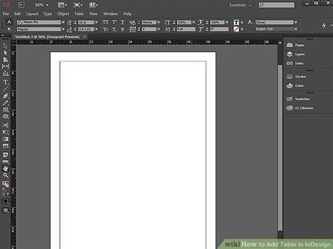 Insert Table In Indesign by How To Add Table In Indesign With Pictures Wikihow