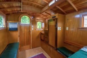 Single Story Cabins man s handmade gypsy wagon micro cabin